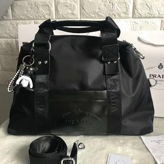 PRADA - PRADA ショルダーバッグ ボストンバッグ 大容量 黒
