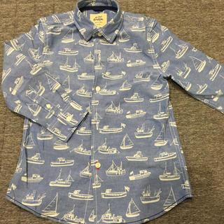 ボーデン(Boden)のboden 船の柄のシャツ 6-7Y(Tシャツ/カットソー)