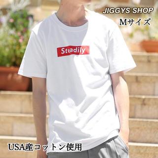 新品・未使用・タグ付【JIGGYS SHOP】USA コットン半袖 ロゴT/M