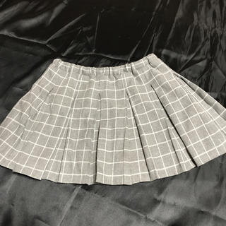 ◆INGNI First◆グレーチェックプリーツスカート◆(スカート)