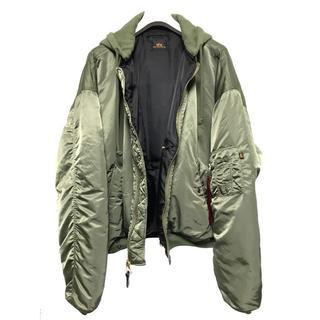 バレンシアガ(Balenciaga)のVETEMENTS x ALPHA 17SS MA-1 Sサイズ 美品 (ミリタリージャケット)