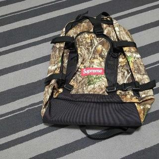19FW Supreme Backpack カモ 枯れ葉 落ち葉(バッグパック/リュック)
