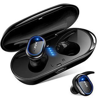 令和最新版 Bluetooth5.0 イヤホン Hi-Fi  自動ペアリング 青(ポータブルプレーヤー)