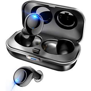 2019  イヤホン 高音質 世界一超小型 Bluetooth5.0 ブラック(ポータブルプレーヤー)