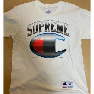 シュプリーム(Supreme)のン Supreme×Champion19SS ビッグロゴクルーネックTシャツ(Tシャツ/カットソー(半袖/袖なし))