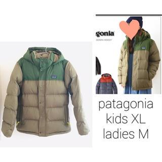 patagonia - 完売 パタゴニア ボーイズ ビビーダウン XL レディースM カーキ フーディー