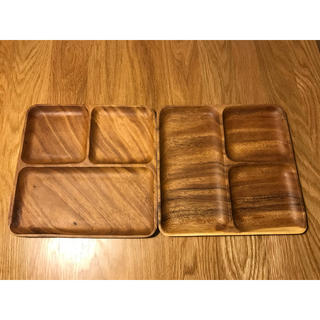 ムジルシリョウヒン(MUJI (無印良品))の無印良品木製プレート 2枚(食器)