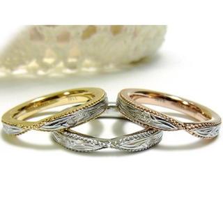 ジュエリーステンレスリング 指輪 ハワイアン イエローゴールド ピンクゴールド