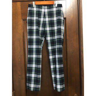 UNIQLO - M アンクルパンツ チェックパンツ ギンガムチェック ズボン パンツ チェック柄