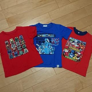 ユニクロ(UNIQLO)の仮面ライダー洋服三枚セット男の子UTユニクロ110120(Tシャツ/カットソー)