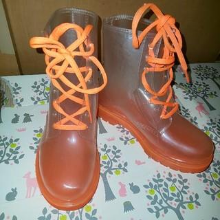 クリアオレンジ レインシューズ(レインブーツ/長靴)