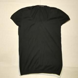 セオリー(theory)のセオリー  theory カットソー 黒 丸首 S  ブラック Tシャツ(カットソー(半袖/袖なし))