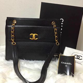 CHANEL - 極美品シャネル、キャビアスキンショルダーバッグ、ビジネスバッグとしても〜