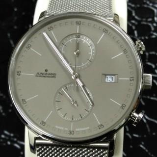 ユンハンス(JUNGHANS)のほぼ未使用 ユンハンスクロノスコープ クォーツ ドイツ製 メンズ ユニセックス(腕時計(アナログ))