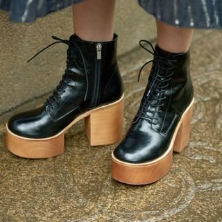 アメリヴィンテージ(Ameri VINTAGE)のLACE UP BOOTS  M 新品未使用 (ブーツ)