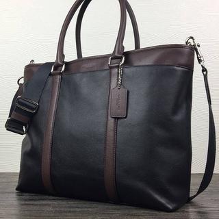 COACH - 正規品保証 コーチ スムースレザー ビジネストートバッグ 新品、値札付き