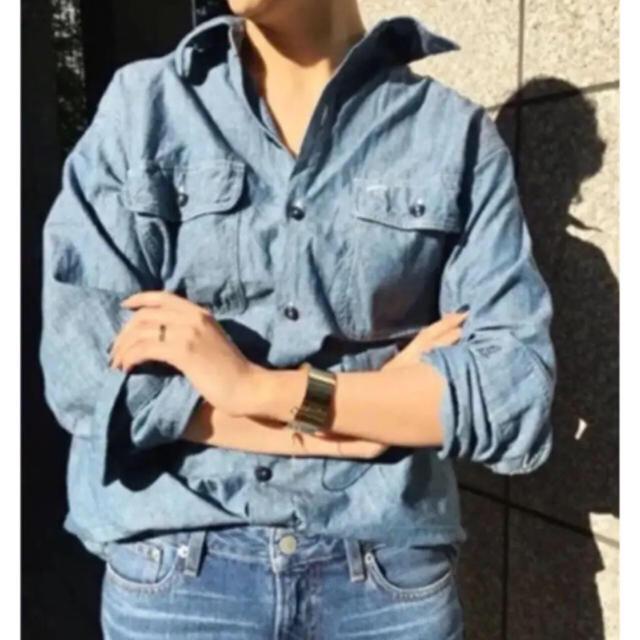 MADISONBLUE(マディソンブルー)のマディソンブルー  シャンブレー シャツ デニム レディースのトップス(シャツ/ブラウス(長袖/七分))の商品写真