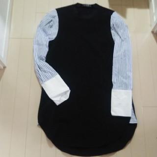 ZARA - ZARA シャツ袖 切り替え ワンピース
