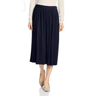 ミラオーウェン(Mila Owen)の今月削除 ミラオーウェン プリーツスカート ネイビー 濃紺 ミディ丈(ロングスカート)