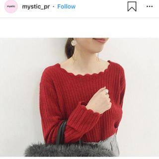 mystic - ミスティック スカラップ ニット⋆︎*赤