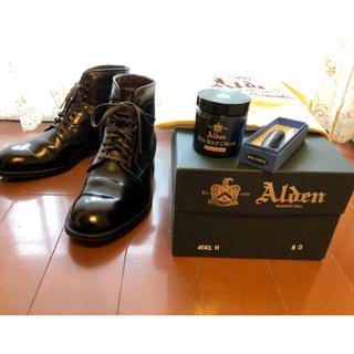 Alden - ALDEN コードバン プレーントゥ ブーツ バーガンディ 8D 4561H