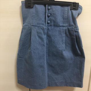ジェイダ(GYDA)のGYDAコルセット型デニムスカート (ミニスカート)