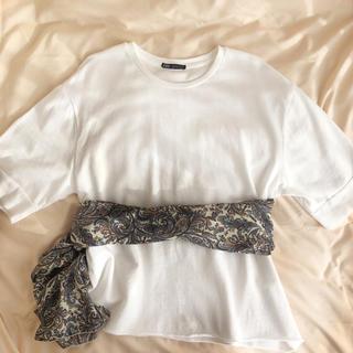 ZARA - ZARA 白 Tシャツ
