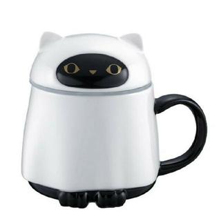 Starbucks Coffee - スターバックス[マグカップ 幽霊 蓋付き]ハロウィン限定 台湾 海外 黒猫
