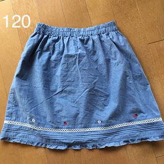 familiar - familiar*デニム風 スカート 120