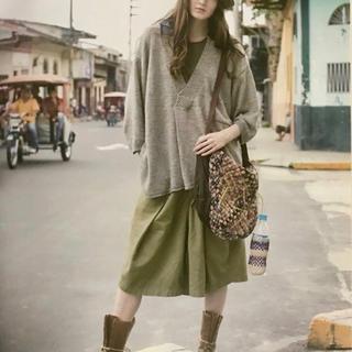 KAPITAL - KAPITAL Linen knit KENKA shirt