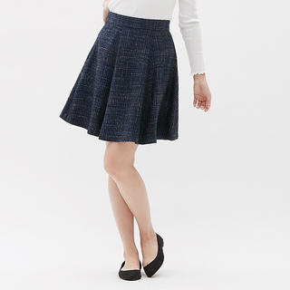 GU - GU ツイードAラインスカート