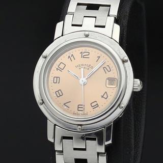 Hermes - 美品 稼働品 エルメス クリッパー Hロゴブレス レディース腕時計