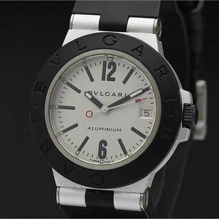 BVLGARI - 美品 稼動品 ブルガリ アルミニウム ラバーベルト黒 メンズ レディース 腕時計