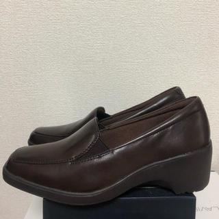 アシックス(asics)の☆新品 asics テクシー  リュクス ブラウン 22.5(ローファー/革靴)
