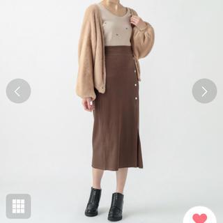 mystic - mystic カットリブタイトスカート