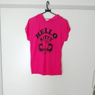 ハローキティ(ハローキティ)のハローキティ フード付きティーシャツ(Tシャツ(半袖/袖なし))