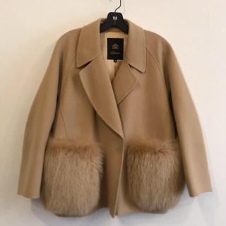 ドゥロワー(Drawer)のDrawer ファーポケット付きコート(毛皮/ファーコート)