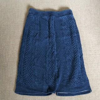 ロデオクラウンズワイドボウル(RODEO CROWNS WIDE BOWL)のロデオクラウンズワイドボウル ニットデニムスカート(ひざ丈スカート)