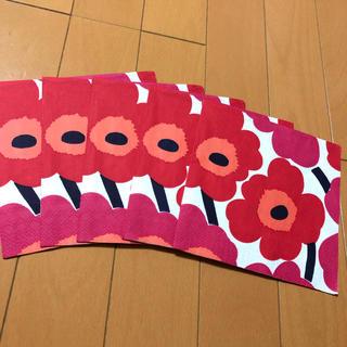 マリメッコ(marimekko)のペーパーナプキン  マリメッコ   U-⑦    5枚(各種パーツ)
