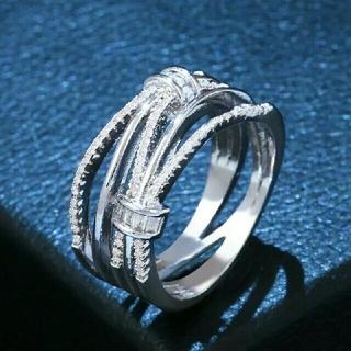 スワロフスキー(SWAROVSKI)のスワロフスキークリスタル シルバーカラーリング(リング(指輪))