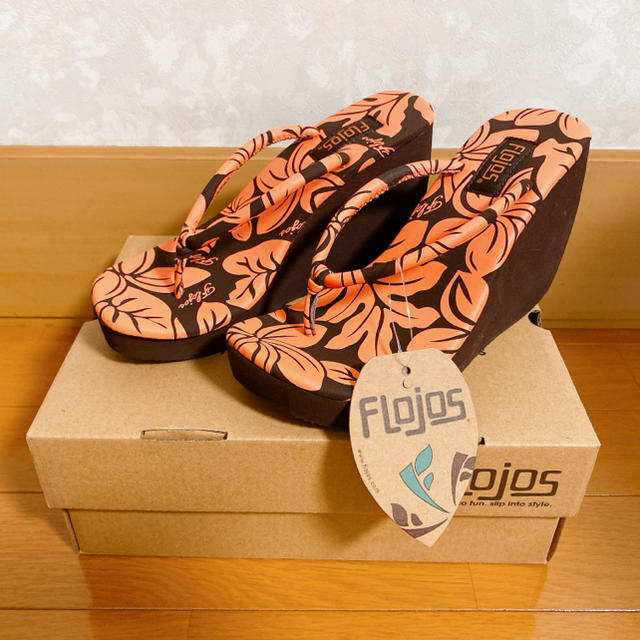 【5】フロホース FLOJOS ビーチサンダル FRANGIPANI プルメリア レディースの靴/シューズ(ビーチサンダル)の商品写真