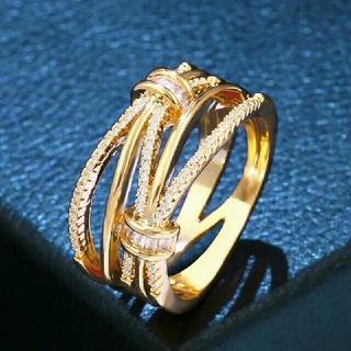 スワロフスキー(SWAROVSKI)のスワロフスキークリスタル ゴールドカラーリング(リング(指輪))