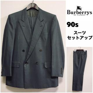 バーバリー(BURBERRY)のBurberrys☆スーツセットアップ☆ダブルブレスト☆90s☆グレー☆(セットアップ)