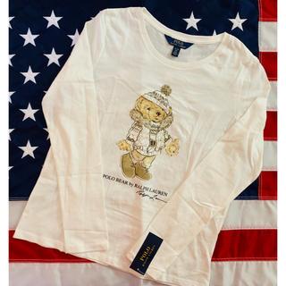 ポロラルフローレン(POLO RALPH LAUREN)の大人着用可能★POLO BEAR ★ラルフローレン長袖TシャツXL/160(Tシャツ/カットソー)