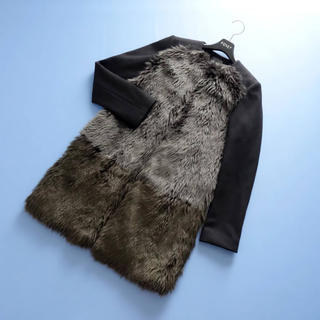Drawer - ■ヨーコチャン■ 36 濃淡ファー コート 黒 YOKO CHAN