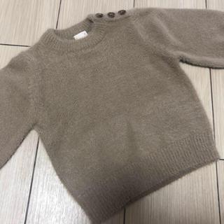 プティマイン(petit main)の☆2枚セット☆肩ボタン付きシャギーセーター(ニット)
