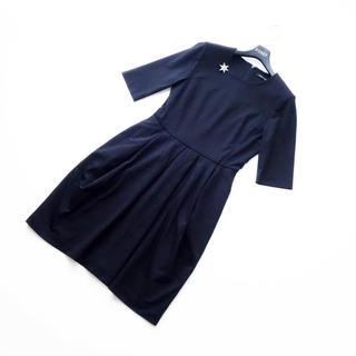 Drawer - ■YOKO CHAN■ 38 五分袖 ワンピース 黒 ヨーコチャン
