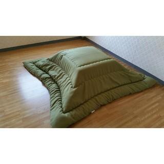 超撥水加工 厚手 厚掛け こたつ布団 大判長方形 グリーン  清潔 安心 日本製