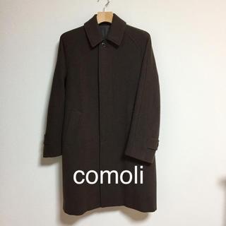 コモリ(COMOLI)のCOMOLI ヤクメルトンバルカラー コート/0/ウール/BRW(ステンカラーコート)