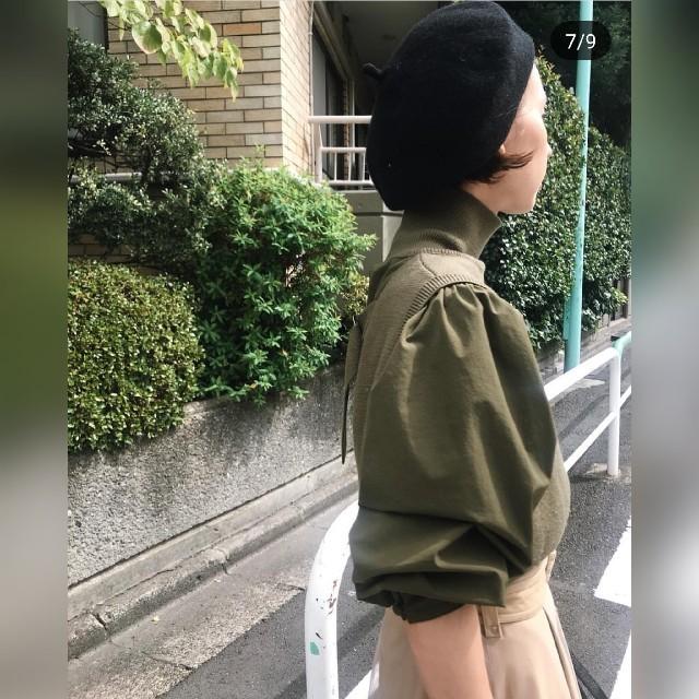Ameri VINTAGE(アメリヴィンテージ)のAmeri【新品】ミニニット ドッキング シャツ レディースのトップス(ニット/セーター)の商品写真